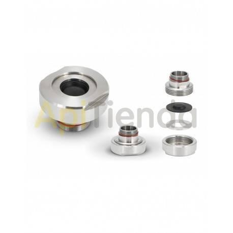 Material  Acople antigoteo envasadora Dimensiones y peso del dispositivo: - altura: 48 mm - diámetro: 72 mm - peso neto: 0,6
