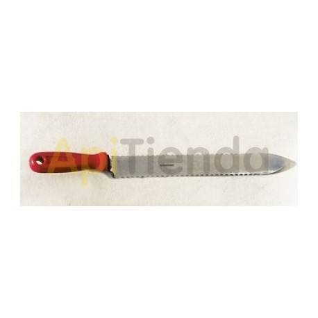 Material  Cuchillo dentado para desopercular 270 mm Cuchillo para desopercular, caracterizado por su hoja dentada en ambos later