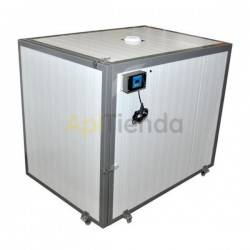Hot camera for a pallet 120x120cm 4 drums, Hot chamber designed to decrystallize honey, i.e. crystallized honey change its textu