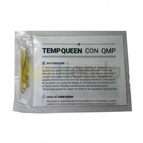 Reinas Feramona de reina Temp Queen con QMP 5 UD El TempQueen consiste en un aparato de plástico que libera una sustancia especi