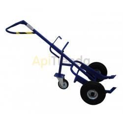 Transporte de colmenas y miel Carro bidones - 3 ruedas Carro para bidones con apoyo trasero Calidad extra Carga 300kg