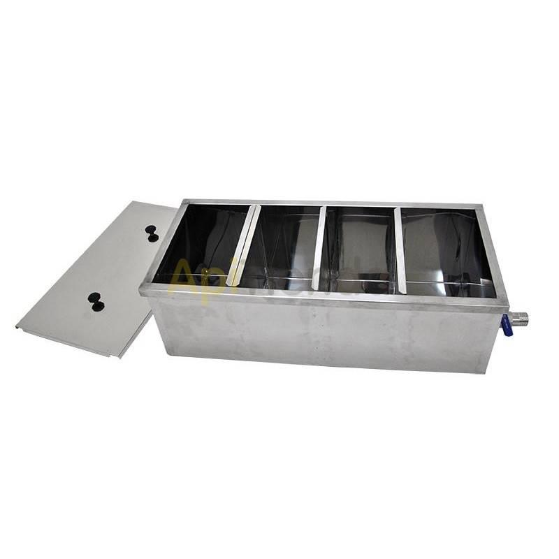 Bancos de decantación Banco decantación  1000mm  Banco decantación para filtrado de miel Fabricado completamente en acero inox