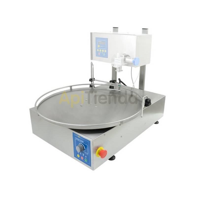 Envasadoras y bombas de trasiego Mini-mesa rotativa  Al reducir las dimenciones de la mesa rotativa y retirando sus patas el t