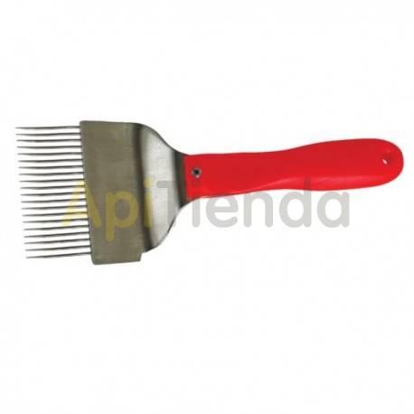 Desoperculado Peine para desopercular con rascador lateral Peine de púas para desopercular con mango ergonomico en plástico. Las
