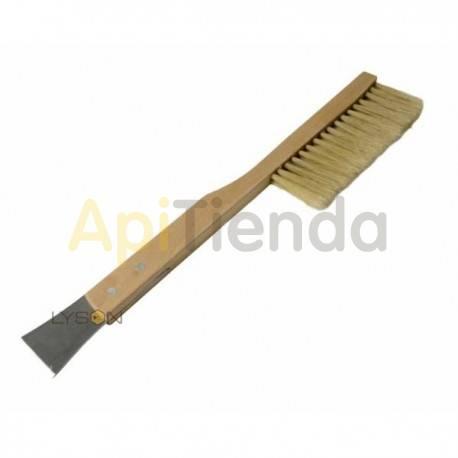 Espátulas, cepillos y levantacuadros Cepillo con espátula incorporada    Ideal para desabejar los cuadros. Espátula incorpor