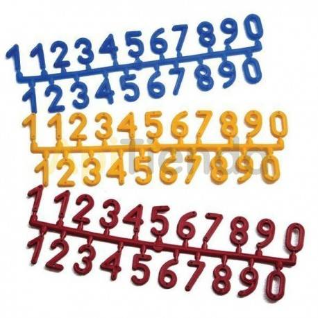 Accesorios y cuadros Números colmena  Números colmena Fabricado en plástico Los colores pueden variar