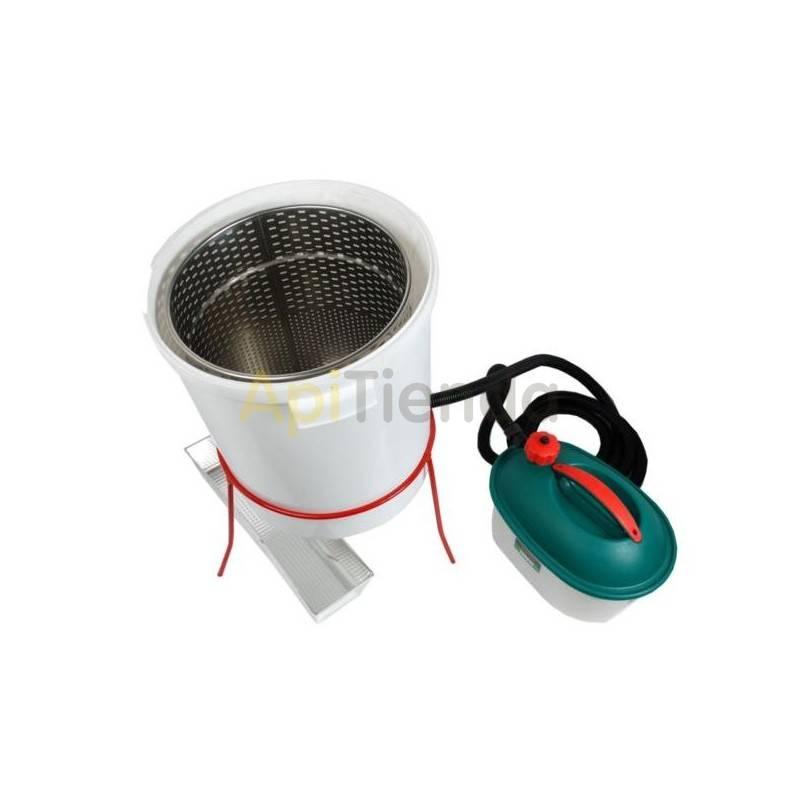 Fundidoras de cera Caldera para opérculos con generador de vapor Fundidor de cera fabricado en polipropileno, su bajo peso y tam