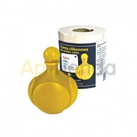 Moldes Molde vela botella Molde de silicona para elaborar las velas de cera de abeja Forma - botella Altura 50mm Mecha 3x6