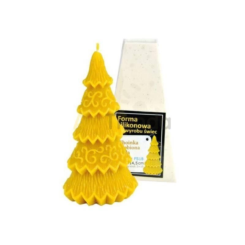 Moldes Molde Arbol de Navidad 145 mm Molde de silicona para elaborar las velas de cera de abeja Arbol de Navidad, pequeño Altu