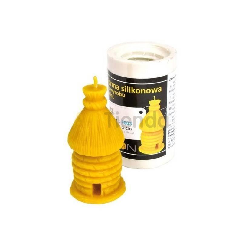 Moldes Molde Colmena 9.5cm Molde de silicona para elaborar las velas de cera de abeja Forma - Colmena Altura 9.5 cm Mecha re