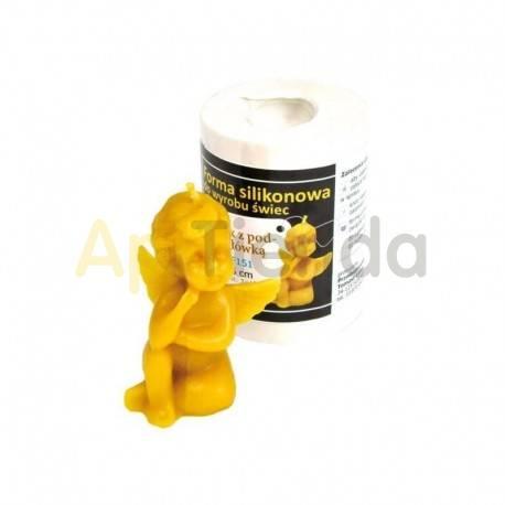 Moldes Molde Angelito 8.5cm Molde de silicona para elaborar las velas de cera de abeja Forma - Angelito Altura 8.5 cm Gasto