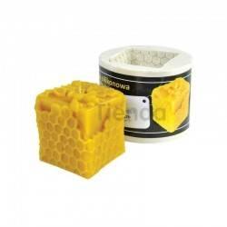 Moldes Molde Cubo con Celdas Molde de silicona para elaborar las velas de cera de abeja Forma - Cubo con celdas Altura 60mm