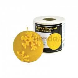Moldes Molde Bola con Copos de Nieve Molde de silicona para elaborar las velas de cera de abeja Forma - Bola con copos de nie