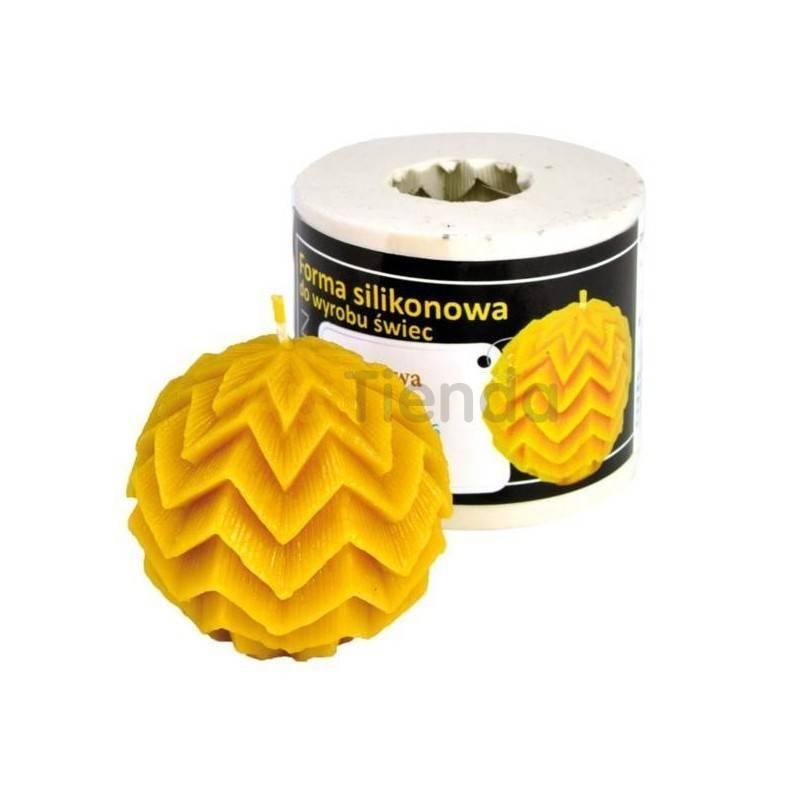 Moldes Molde bola decorada Molde de silicona para elaborar las velas de cera de abeja En forma de bola decorada Altura 55mm M
