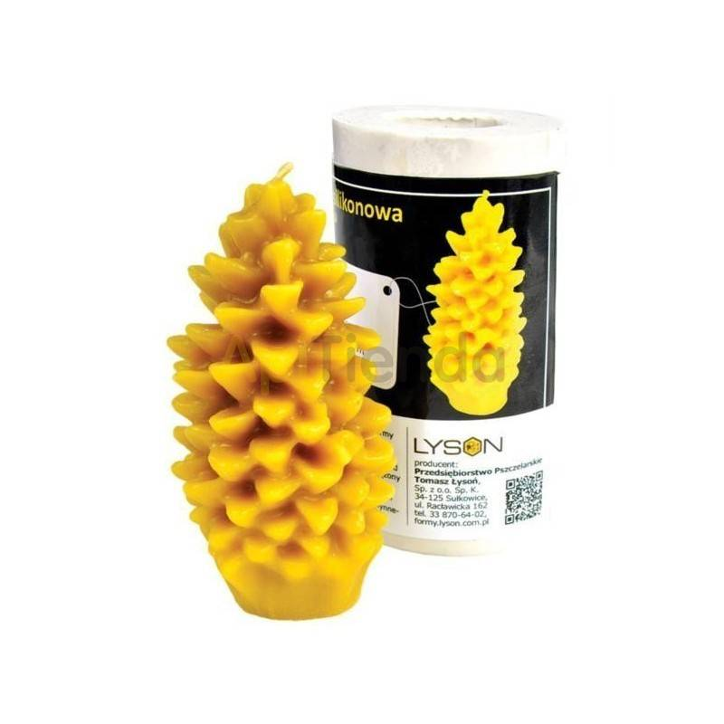 Moldes Molde Piña, grande Molde de silicona para elaborar las velas de cera de abeja Piña (grande) Altura 125 mm Mecha 3×16