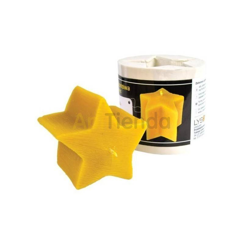 Moldes Molde Estrella Molde de silicona para elaborar las velas de cera de abeja Molde Estrella Altura 70 mm Mecha 3×13 Gast
