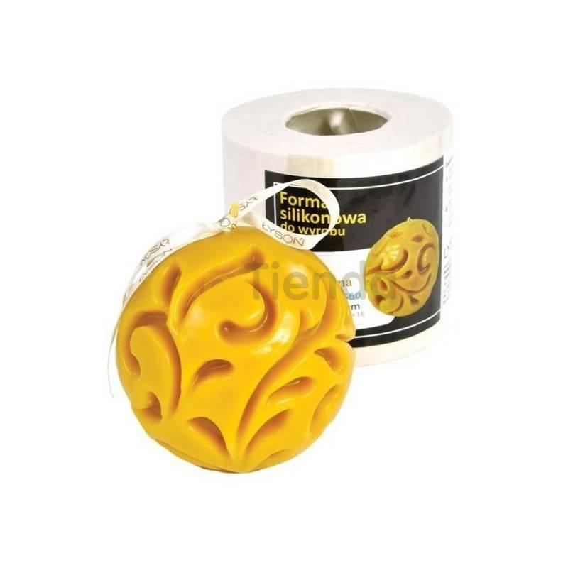 Moldes Molde Bola fundida Molde de silicona para elaborar las velas de cera de abeja Bola decorada Altura 85 mm Mecha recomen