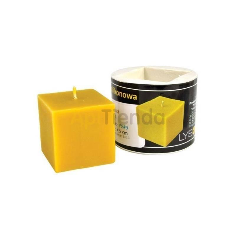 Moldes Molde Cubo, pequeño Molde Cubo (pequeño) Altura 45mm Mecha recomendable 3×10 Gasto aprox. de cera 103g